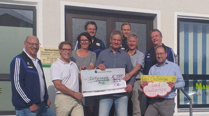 Fussballer erlaufen 1000 Euro